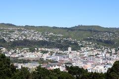 Wellington dall'allerta Nuova Zelanda di Victoria del supporto Immagini Stock Libere da Diritti