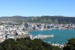 Wellington dall'allerta Nuova Zelanda di Victoria del supporto Fotografie Stock Libere da Diritti