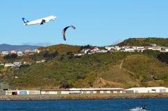 Aeroporto internacional de Wellington fotos de stock royalty free