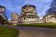 Wellington die Bienenstock-Parlaments-Gebäude lizenzfreies stockfoto