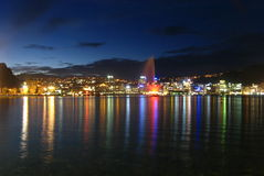 Wellington em a noite Imagens de Stock Royalty Free
