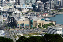 Wellington Cityscape Royaltyfri Fotografi