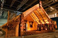 Maori Marae royaltyfria bilder