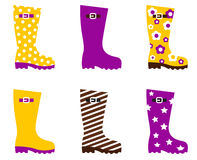 Wellington fashion boots Royalty Free Stock Images