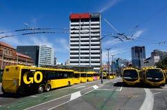 Trolleybuses in Wellington Stock Image