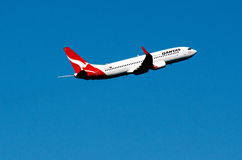 Qantas plane Royalty Free Stock Images