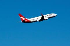 Qantas plane Royalty Free Stock Images