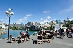 Wellington waterfront lagoon Stock Photo
