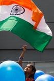 Bandiera dell'India Fotografie Stock Libere da Diritti
