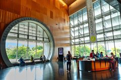 The Wellington foyer of Te Papa Tongarewa, the national museum of NZ royalty free stock image