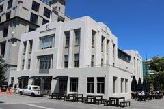 Wellington Free Ambulance Building precedente NZ Immagine Stock