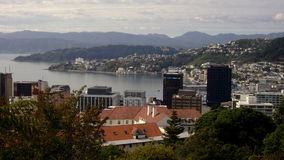 Wellington-Hafen von Kelburn stockfotografie