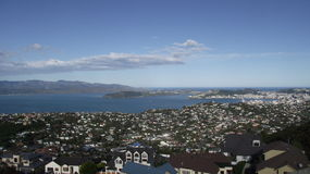 Wellington Harbor Fotografía de archivo libre de regalías