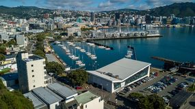 Wellington Harbor And Oriental Bay Royalty-vrije Stock Fotografie