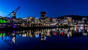 Wellington Harbour & CBD Arkivfoton