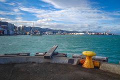Wellington harbour docks, New Zealand Stock Photos