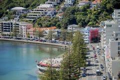 Wellington Harbour en Oosterse Baai Royalty-vrije Stock Foto