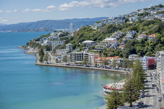 Wellington Harbour and Oriental Bay Stock Photos