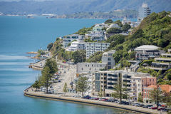 Wellington Harbour and Oriental Bay Royalty Free Stock Photos