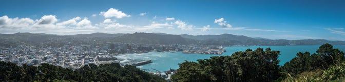 Wellington Harbour van MT Victoria stock foto's