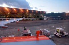 Wellington International Airport - Nueva Zelanda Imagen de archivo libre de regalías