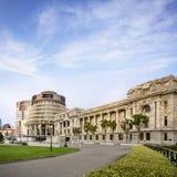 Wellington l'alveare ed il Parlamento alloggia Fotografie Stock Libere da Diritti