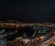 Wellington la nuit images stock