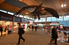 Wellington lotnisko międzynarodowe - Nowa Zelandia Obrazy Stock