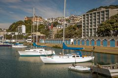 Wellington Marina And Boat Sheds foto de stock