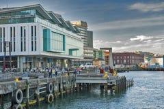 Wellington nabrzeże, północna wyspa Nowa Zelandia Obrazy Stock