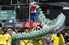Wellington-Neujahrsfest-Schlange Lizenzfreie Stockfotos