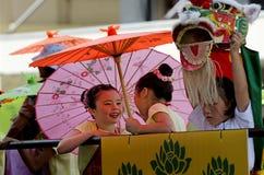 Wellington-Neujahrsfest-Schlange Stockfotos