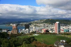 Wellington, New Zealand,. Wellington, New Zealand from a high vantage point Royalty Free Stock Photos