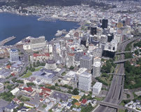 Wellington, New Zealand. Aerial view of the city of Wellington, New Zealand Royalty Free Stock Image