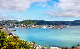 Wellington, New Zealand. Wellington port town scenic view Royalty Free Stock Photo