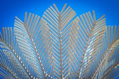 Close up image of Nikau sculpture, Wellington, New Zealand Royalty Free Stock Photography