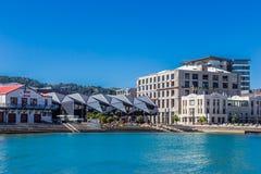 Wellington, Nieuw Zeeland, 11 Februari 2016: Wellington Waterfront Lagoon royalty-vrije stock foto