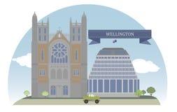 Wellington, Nova Zelândia ilustração do vetor
