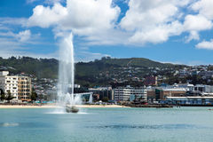 WELLINGTON, NOVA ZELÂNDIA - 11 DE FEVEREIRO: Margem em Wellington Fotos de Stock Royalty Free