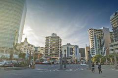 Wellington, Nova Zelândia - 3 de março de 2016: Arquitetura da cidade de Wellington Fotos de Stock Royalty Free
