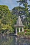 Wellington, Nova Zelândia - 2 de março de 2016: A lagoa do pato em Wellington Botanic Garden, Nova Zelândia fotografia de stock