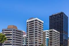 Wellington, Nova Zelândia, o 11 de fevereiro de 2016: Arquitetura da cidade Fotografia de Stock Royalty Free