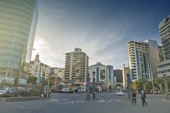 Wellington, Nuova Zelanda - 3 marzo 2016: Paesaggio urbano di Wellington Fotografie Stock Libere da Diritti