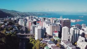 Wellington NZ, antenna che stabilisce 4K UHD video d archivio