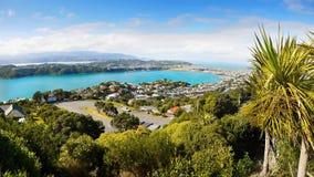 Wellington Panorama, Nieuw Zeeland Stock Afbeeldingen