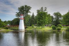 Wellington Park dans Simcoe, Ontario Photos libres de droits