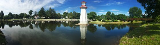 Wellington Park in Simcoe, Ontario. View of Wellington Park in Simcoe, Ontario Stock Photo