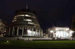Wellington - Parlementsgebouw Royalty-vrije Stock Foto's