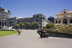 Wellington Parliament e a colmeia foto de stock royalty free