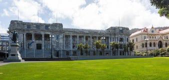 Wellington Parliament-Gebäude NZ Lizenzfreies Stockbild